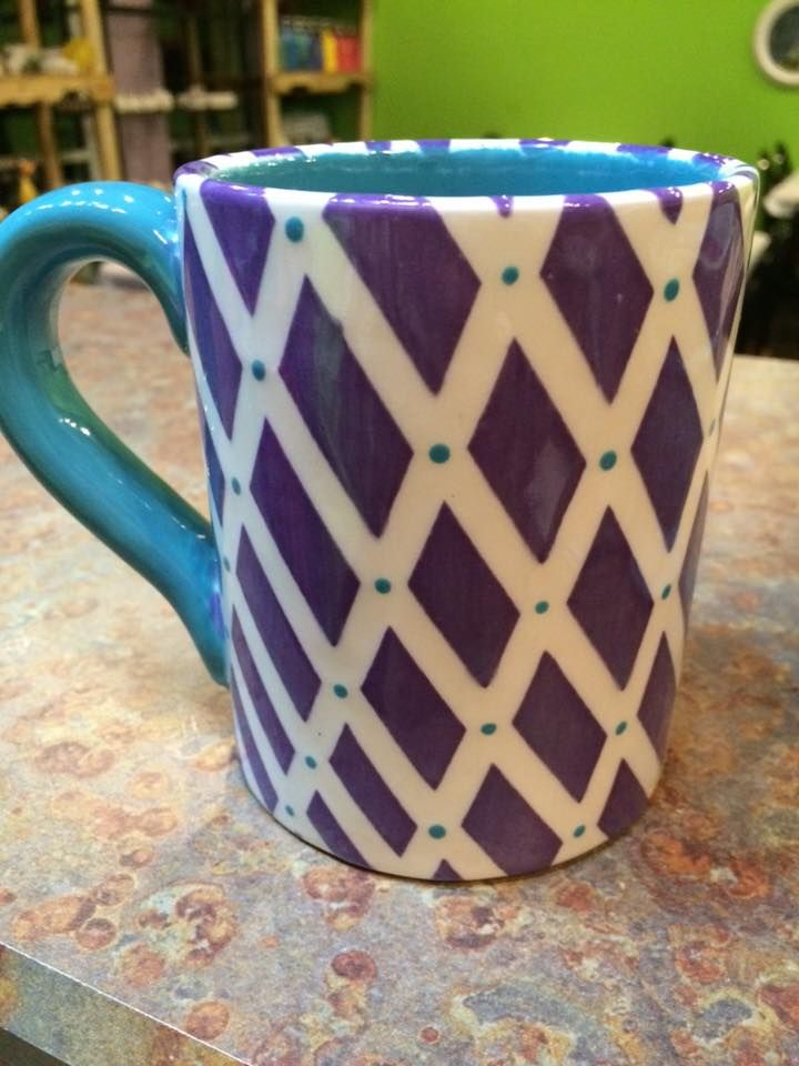Art Coffee Mug Ceramic Pottery Paint Your Own Design Personalize