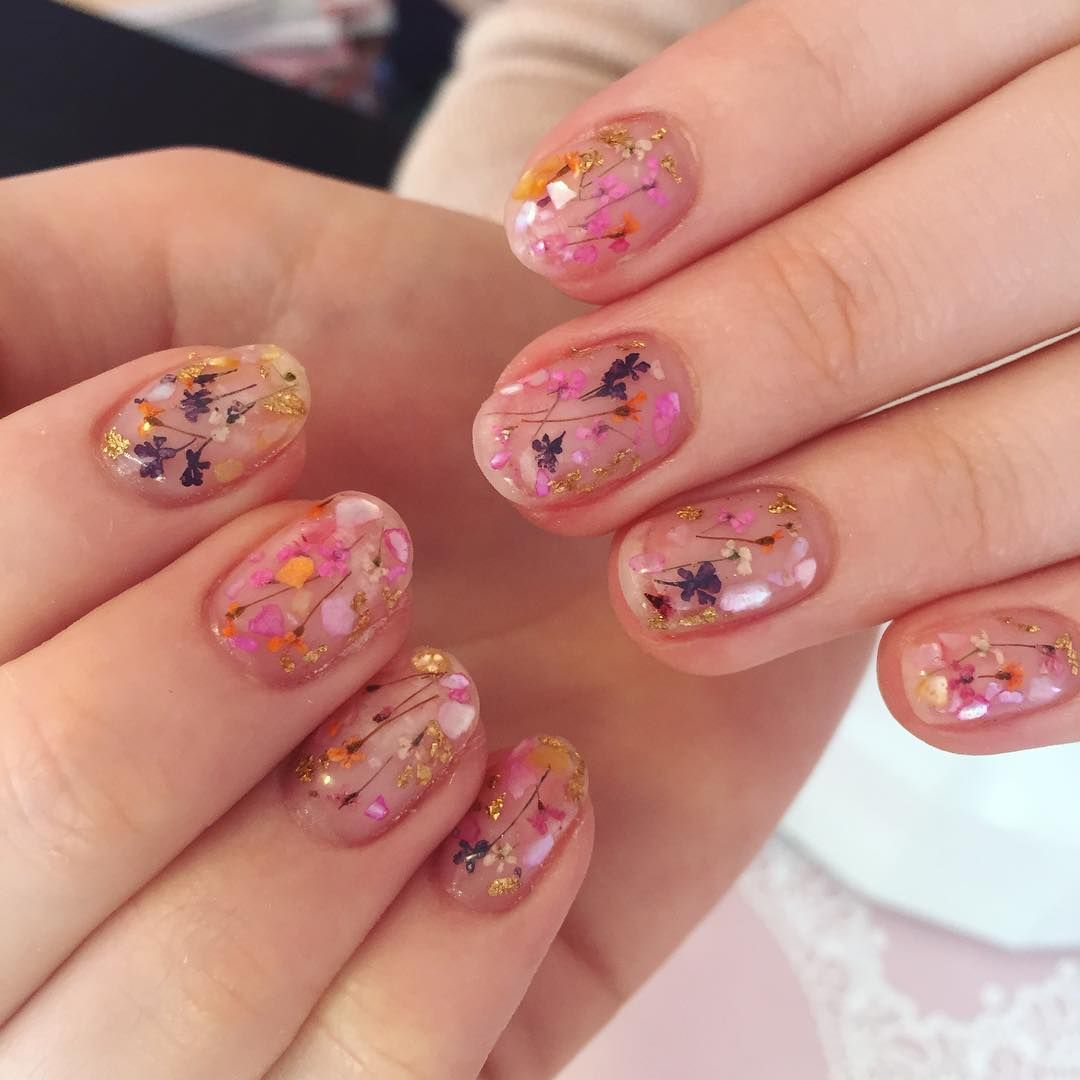 Nail Art Ideas nail art melbourne : Pressed Flower Nail Art https://www.popsugar.com/beauty/Pressed ...