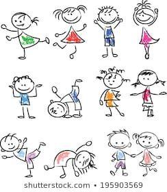 Similar Images, Stock Photos & Vectors of hand drawing cartoon happy kids playing - 148705514 | Shutterstock Disegni Di Scarabocchio, Disegni Animati, Disegni Semplici, Arte Doodle, Cartone Animato Simpatico, Come Disegnare Le Mani, Idee Di Doodle, Disegno Fumetti, Doodles Carini