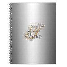 Silver elegant monogram I Notebook