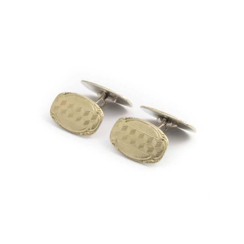 Vergulde zilveren manchetknopen uit de Jugendstil periode