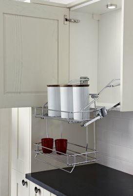 Best Wickes Pull Down Storage Trays Kitchen Pulls Wire 640 x 480