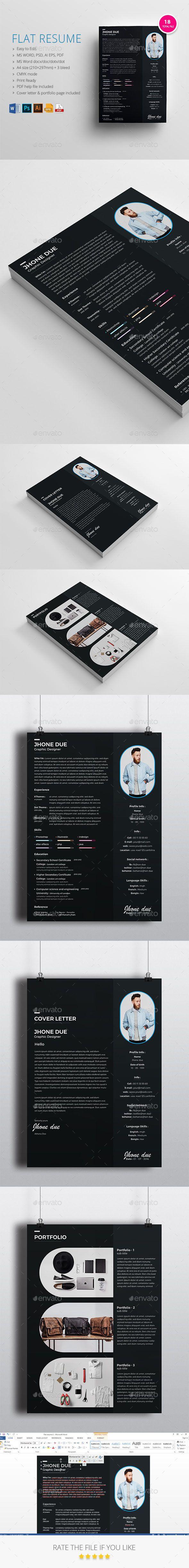 Flat Resume Best resume template, Good resume examples