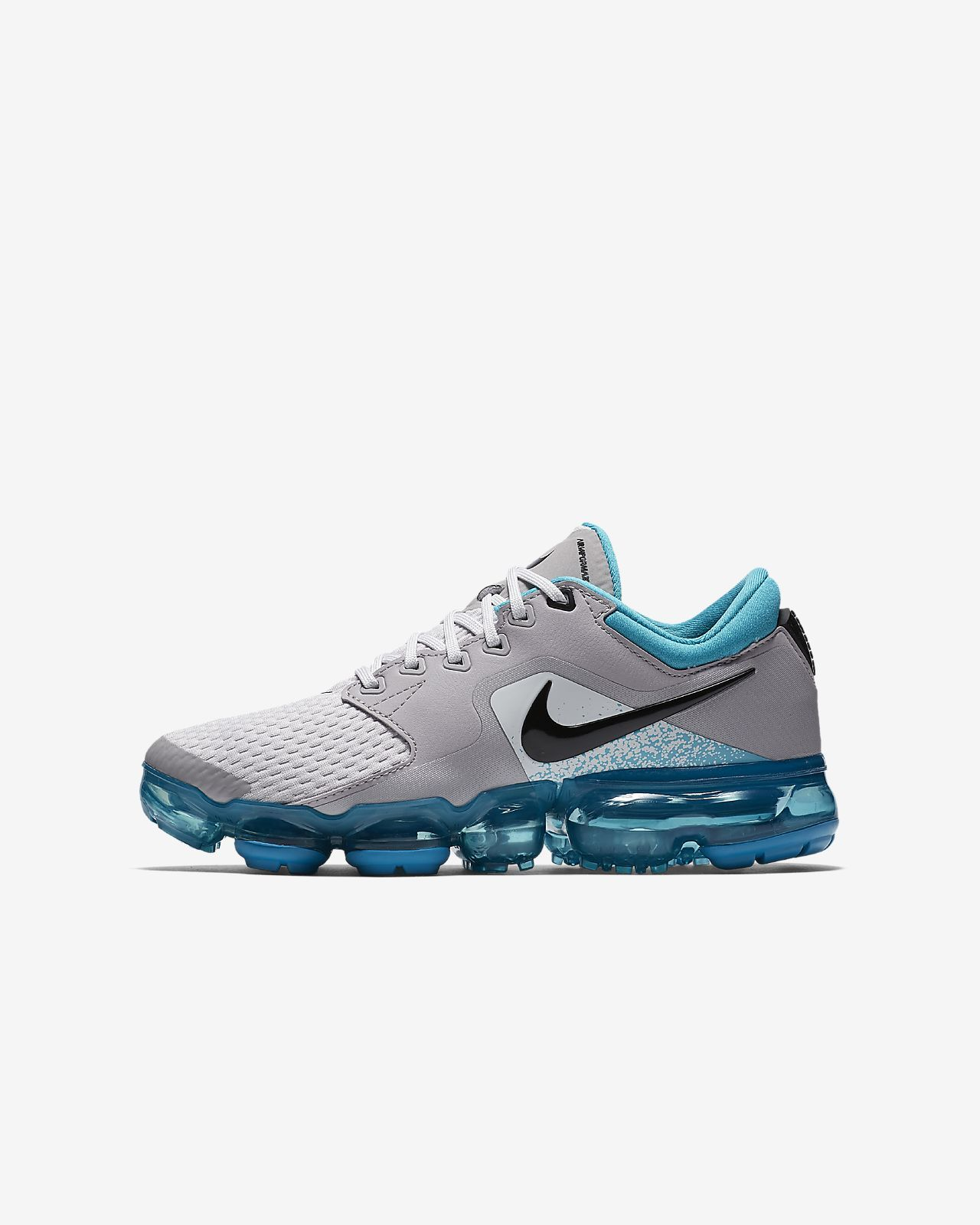 e758969f914 Big Kids  Nike Air VaporMax Running Shoe Vast Grey Dusty Cactus Atmosphere  Grey Black Style  917963-011