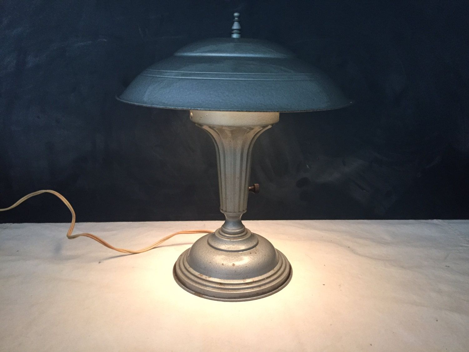 Reserved for mark industrial mushroom table lamp vintage retro reserved for mark industrial mushroom table lamp vintage retro art deco mid century flying saucermachine arubaitofo Images