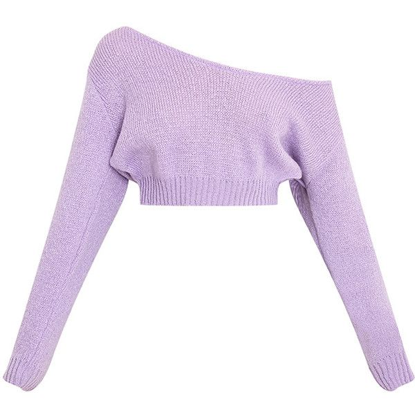 be83b59d554a9 Adelaida Hot Pink Soft Knitted Off the Shoulder Crop ( 15) ❤ liked on Polyvore  featuring tops