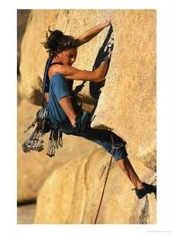 Rock climbing. I want to try the real thing someday.