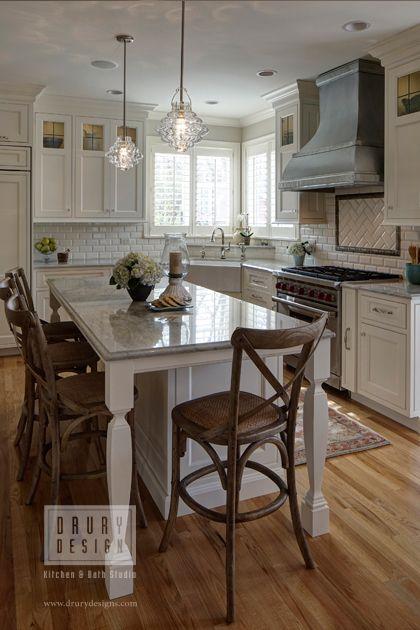 White Naperville Illinois kitchen remodel Featuring a white subway