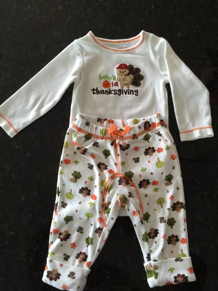 eb65b345367c Baby s First Thanksgiving Outfit Unisex Carters 6M  Carters ...