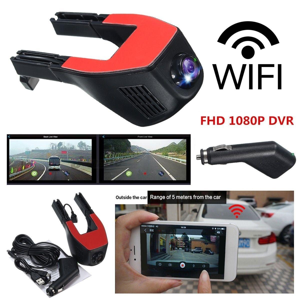 Winksoar 1080P WiFi 170° Hidden Car DVR Dash Camera Video