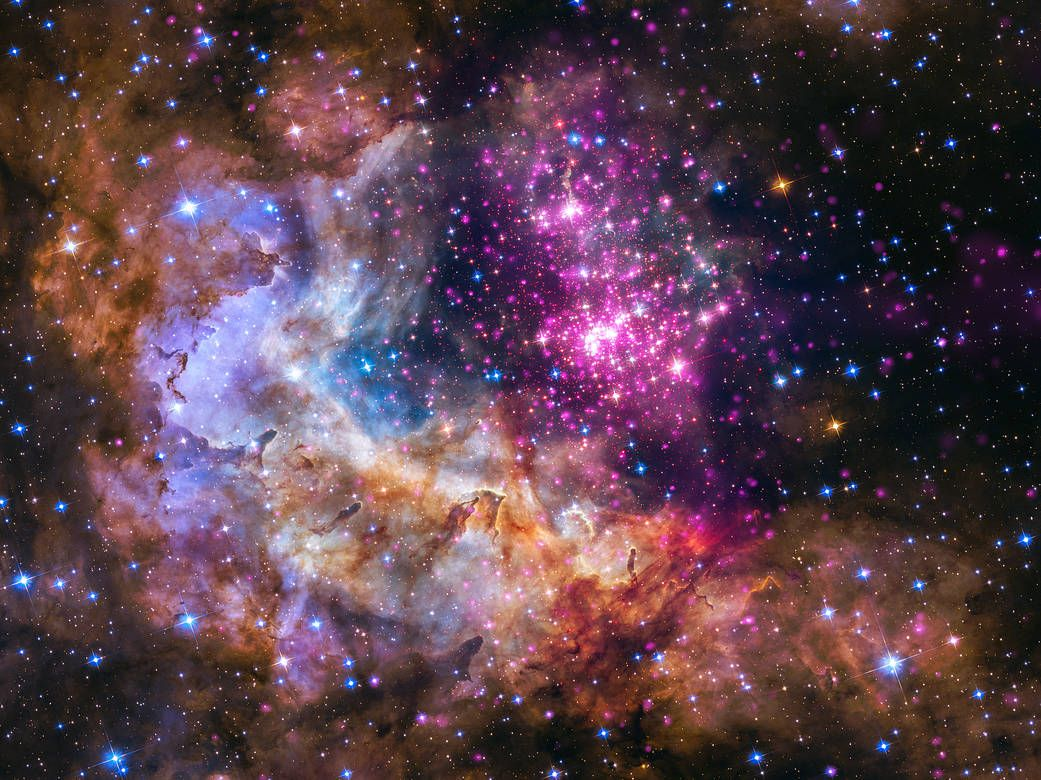 Westerlund 2 cluster of young stars.