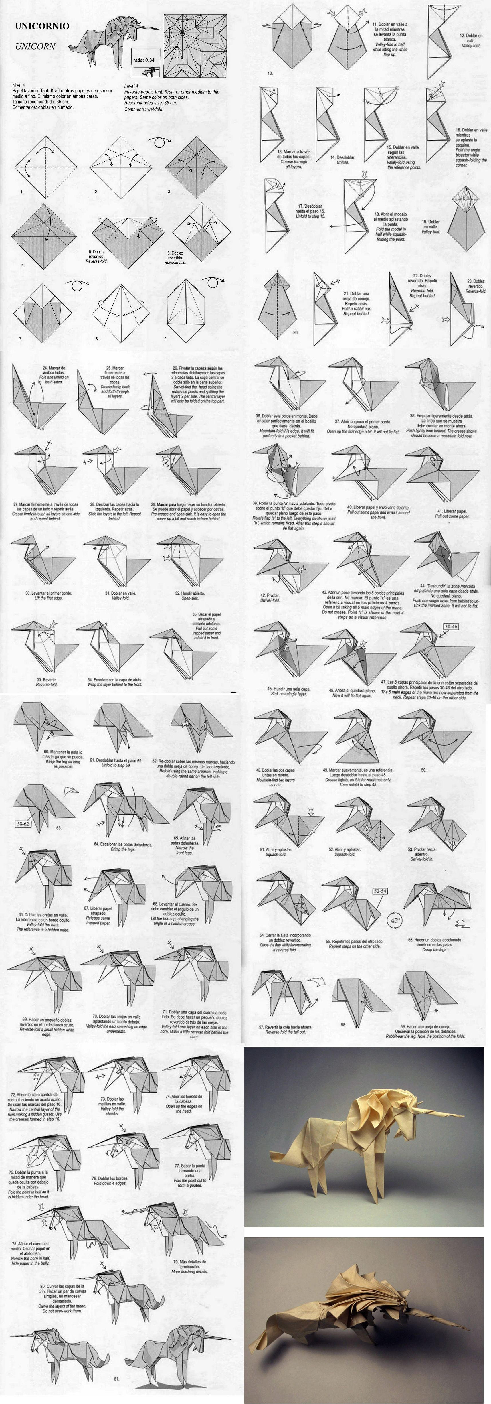 Tutorial For Unicorn Origami This Will Really Keep Them Busy 3d Peacock Diagram Stick Tail Koi More