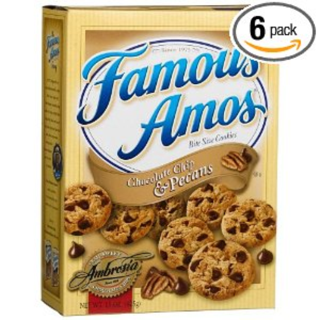I M Learning All About Famous Amos Chocolate Chip With Images Bite Size Cookies Chocolate Chip Pecan Cookies Famous Amos Cookies