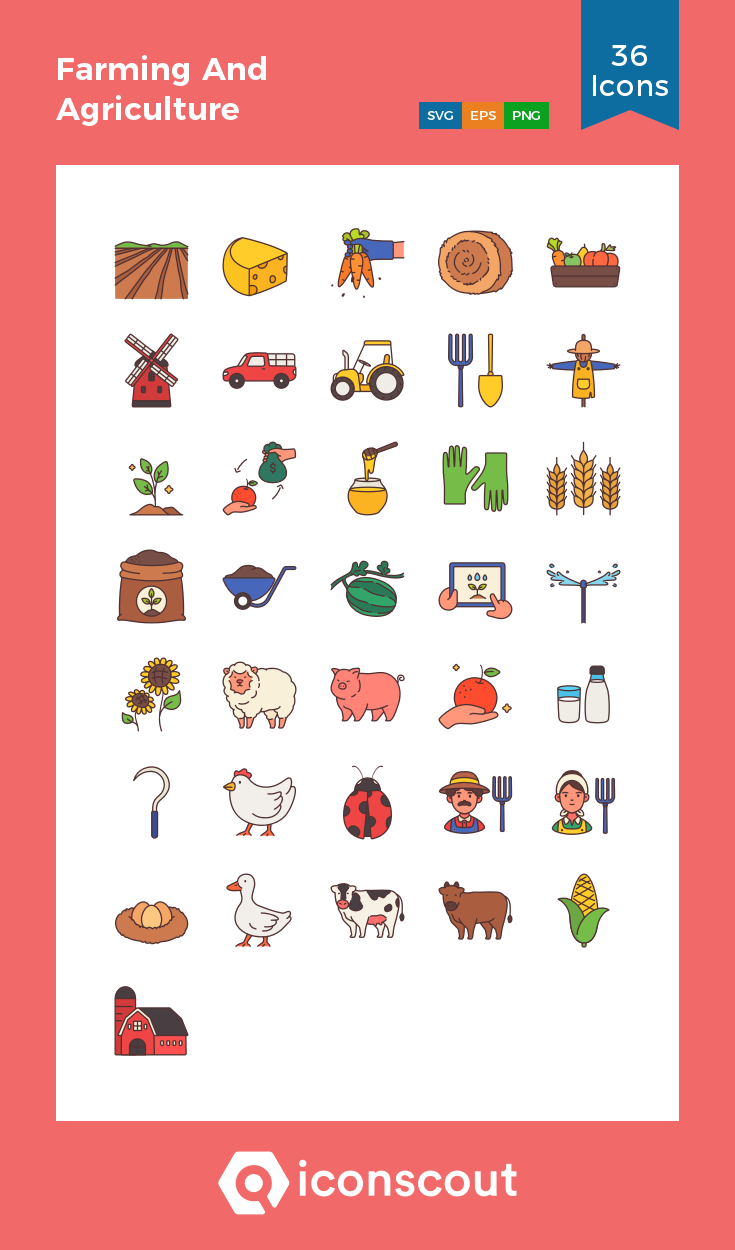 Download Farming And Agriculture Icon pack Available in