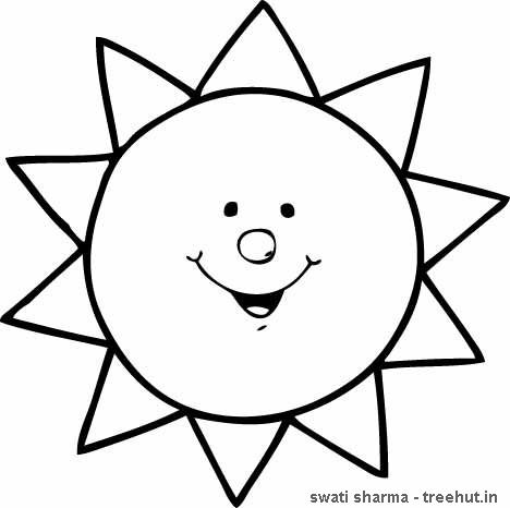 sun coloring page presxhool - Google Search | April in 2018 ...