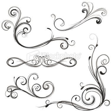 Image detail for -stencil: Heart Scroll | Dreamweaver LM stencils ...