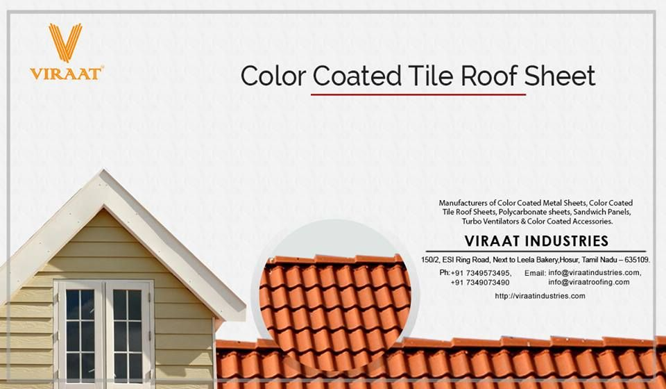 We Have A Rich Industrial Experience And Expertise In Providing Color Coated Tile Roofing Sheet We Supply An Excell Roofing Roofing Sheets Sheet Metal Roofing