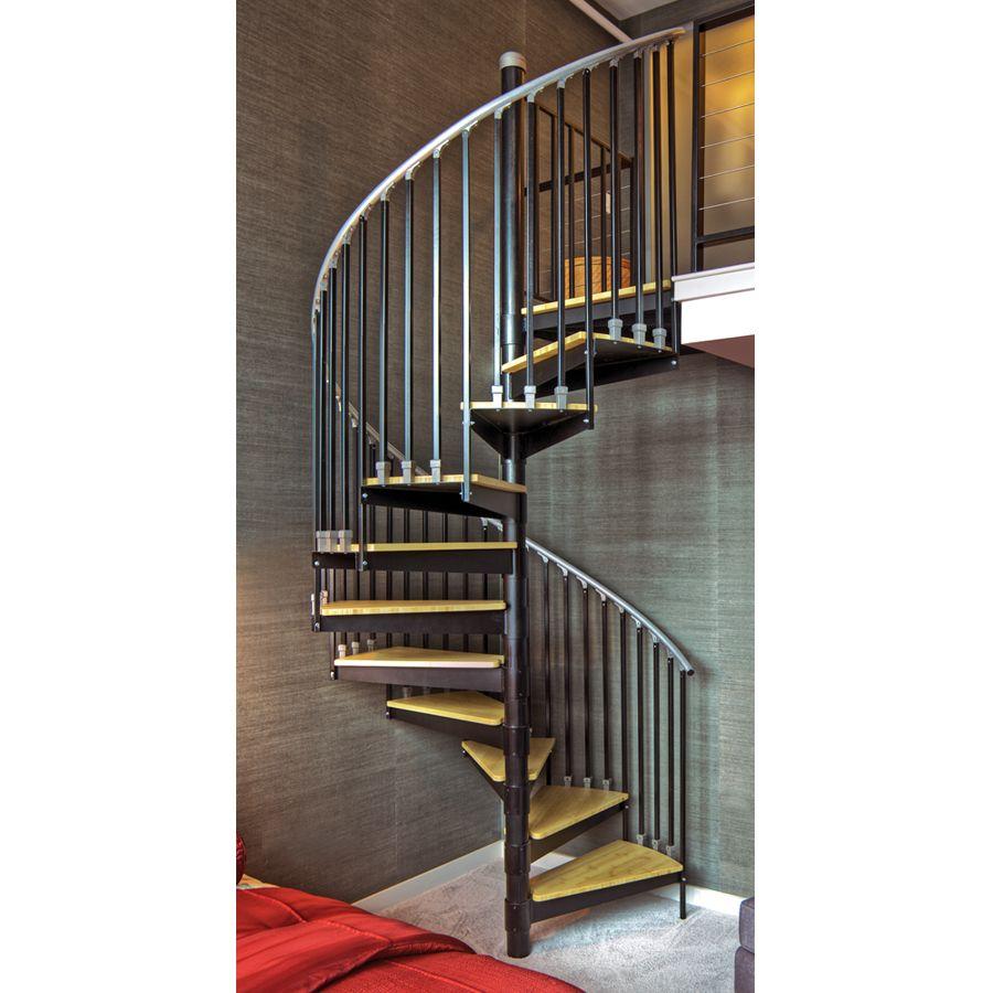 wonderful aluminum spiral staircase prices #5: Shop The Iron Shop 4-ft Ontario Gray Baked Enamel Interior Spiral Staircase  Kit at