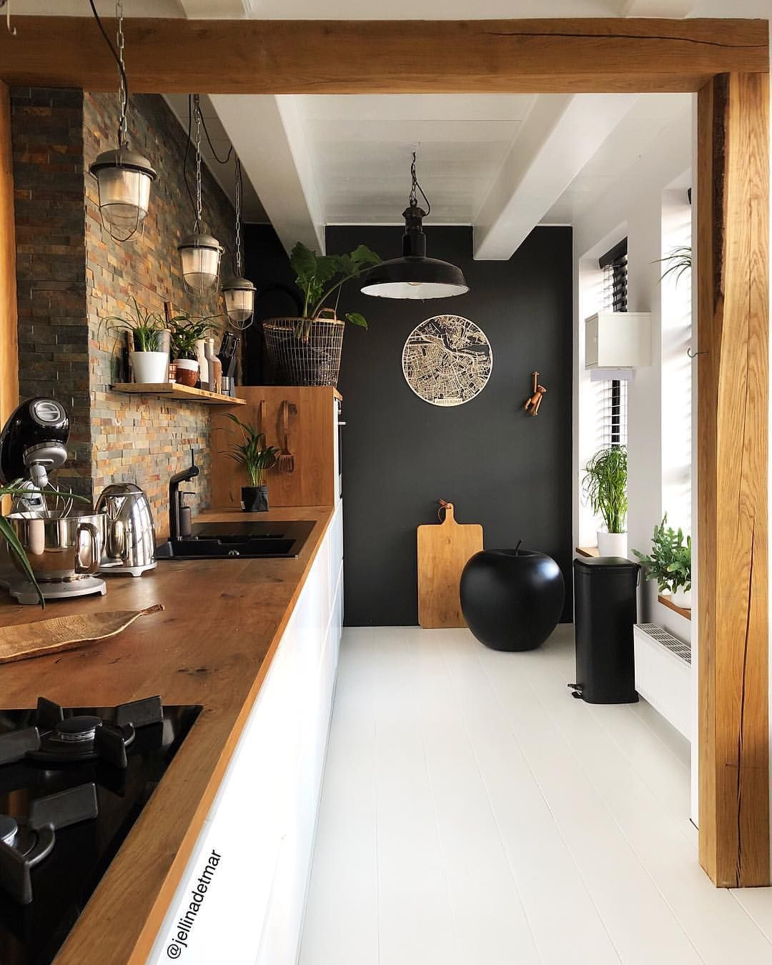 Kleur Keuken Wand Jellina Interior Blogger On Instagram Black Or White Nog