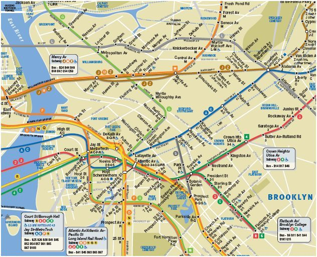 Mta Brooklyn Train Map Google Search Brooklyn New York Ny