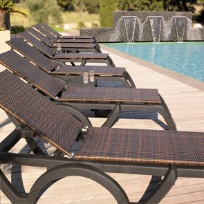 Beautiful Java All Weather Wicker Chaise Lounge Chairs Are Extremely Stylish And Will  Exude Luxury When Lining The Walkways Of Your Pool Area.