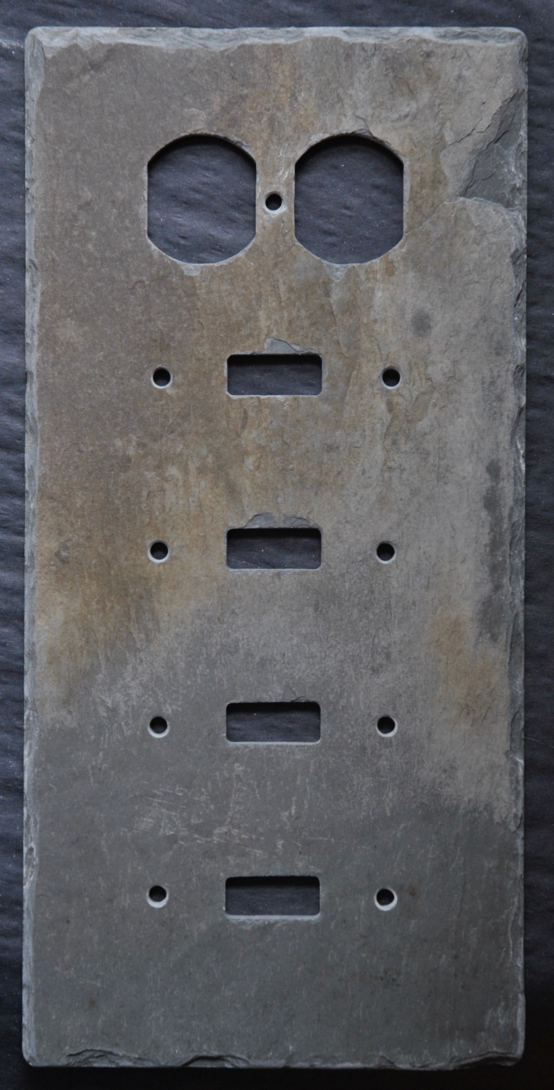 Unique Outlet Covers Www.slatewallplates Unique Slate Stone Wall Plates Light