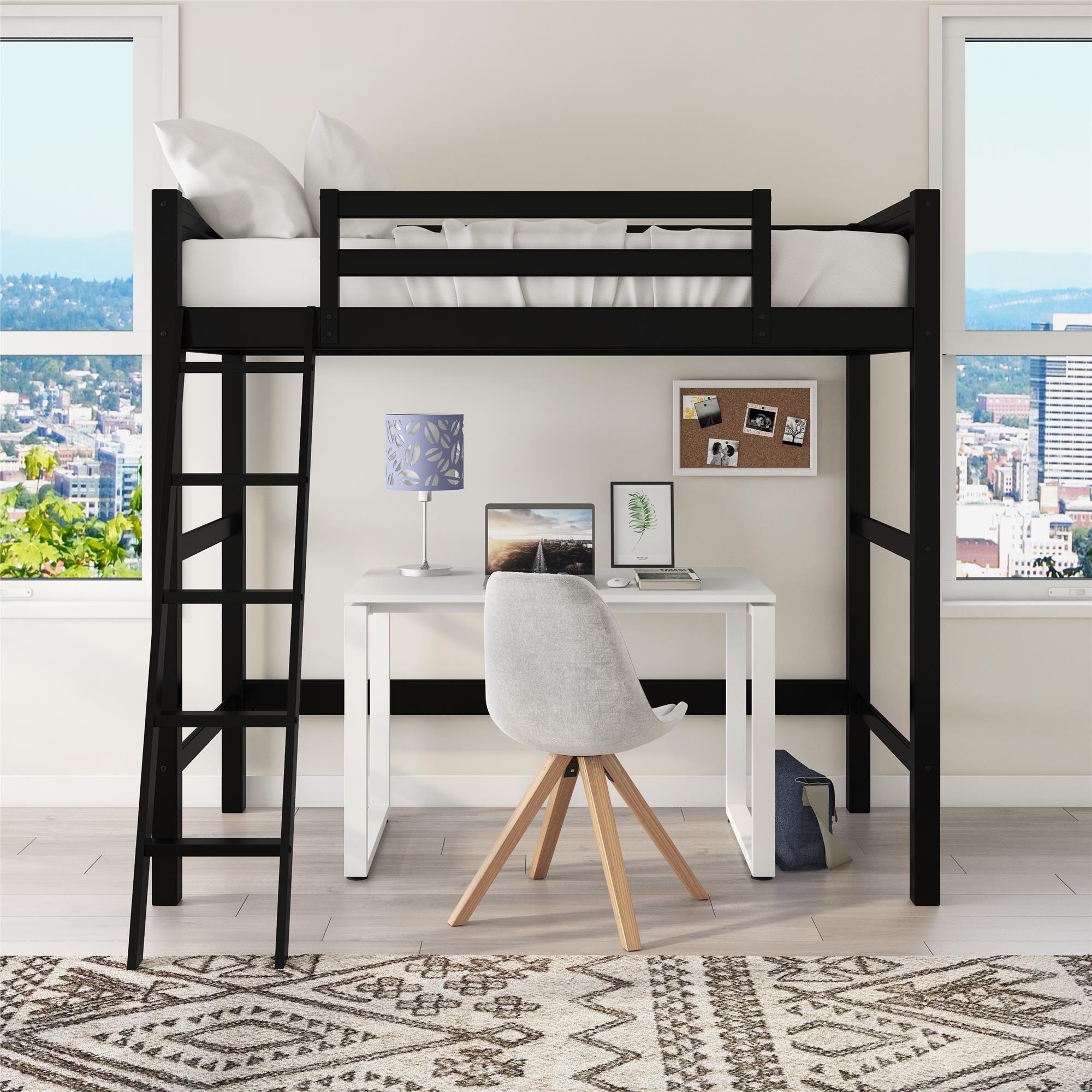 Home in 2020 Wooden bed frames, Loft bed frame, White