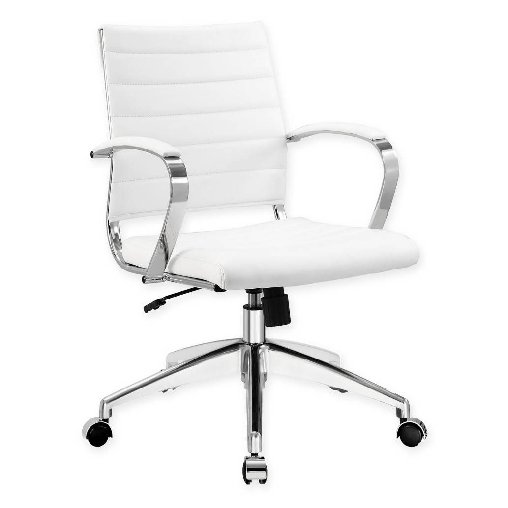 Modway Jive Mid Back Office Chair In White With Images Modern Office Chair White Office Chair Best Office Chair
