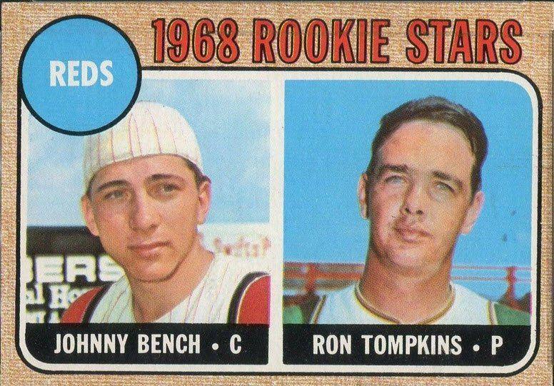 1968 topps johnny bench cincinnati reds hof rookie