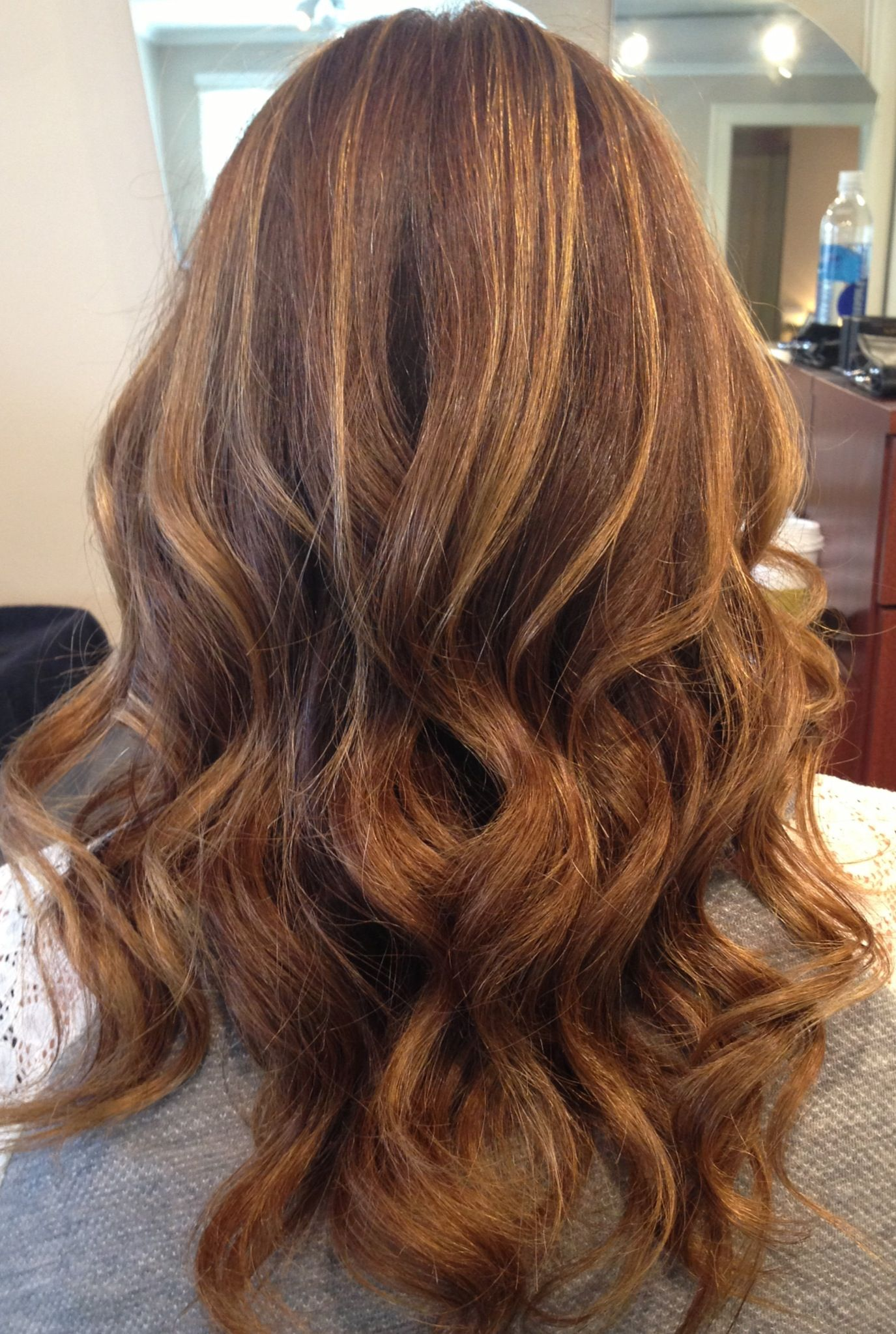 Wallpaper copper and blonde highlights on dark brown hair for desktop hd pics brunette golden perfect auburn