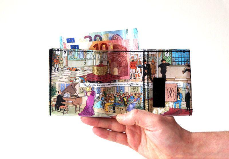 TIM & STRUPPI TINTIN Portemonnaie Comic upcycling Unikat! Geldbörse, Brieftasche, Geldbeutel Tintin Comic wallet handmade in Berlin von PauwPauw auf Etsy