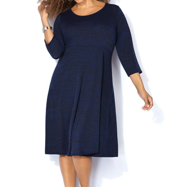 Shop for pretty dress styles that span the season like our plus size Spacedye Skater Sweater Dress available online at avenue.com. Avenue Store