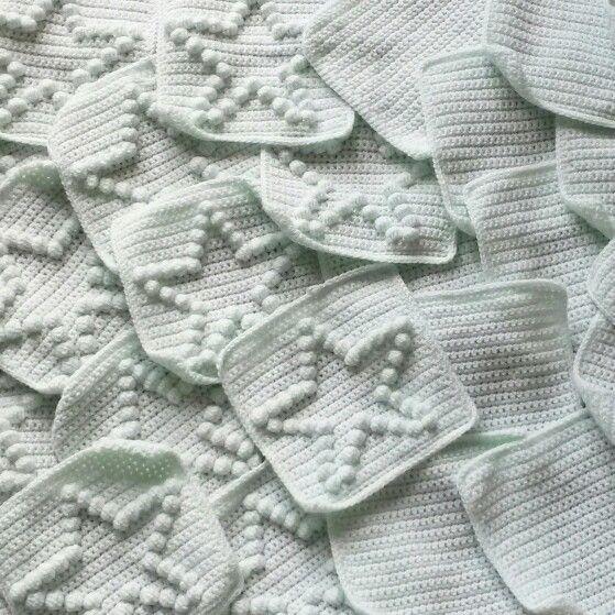 Gehaakt Ledikantdeken Met Sterren Haken Crochet Blanket