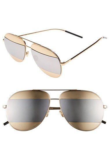 1b9546d4f5ba Christian Dior  Split  59mm Aviator Sunglasses