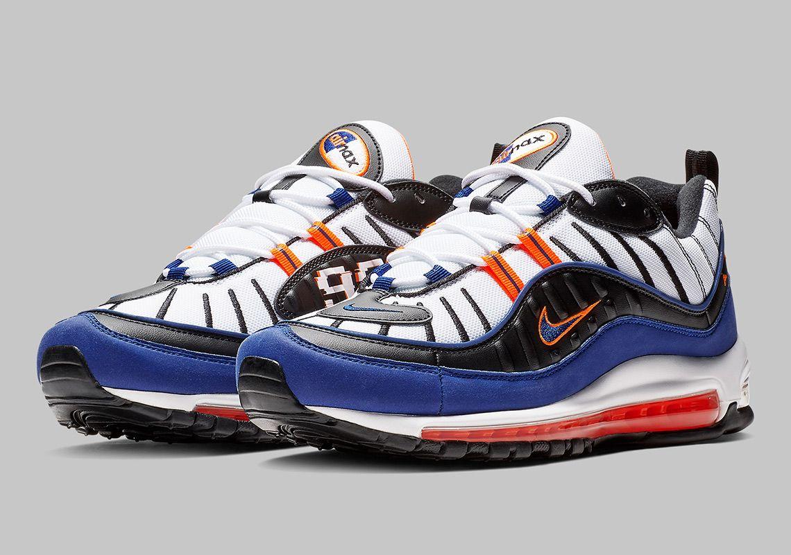 Nike Air Max 98 CD1536-100 White Deep Royal Blue Total Orange  thatdope   sneakers  luxury  dope  fashion  trending c9bc258fadb