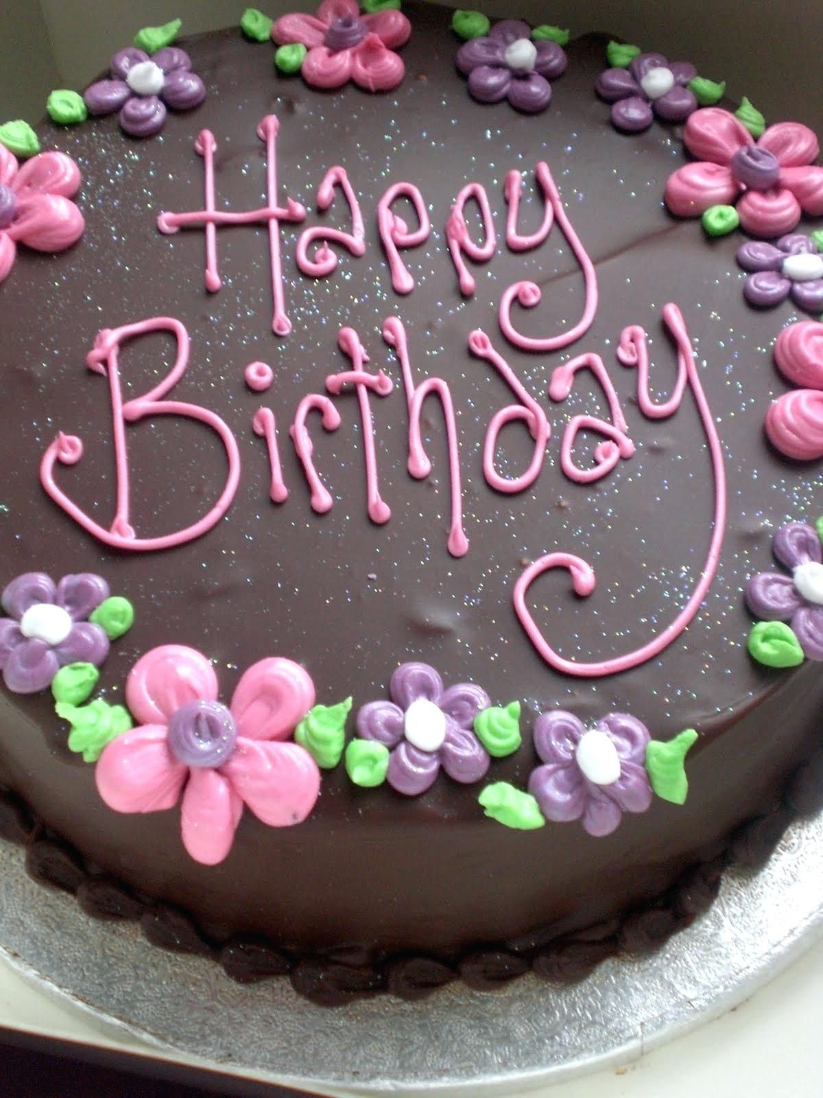 Birthday Cake Writing Name As Well As Pink Fondant Flower Cake Pics For Name Bir Happy Birthday Cake Images Happy Birthday Chocolate Cake Happy Birthday Cakes