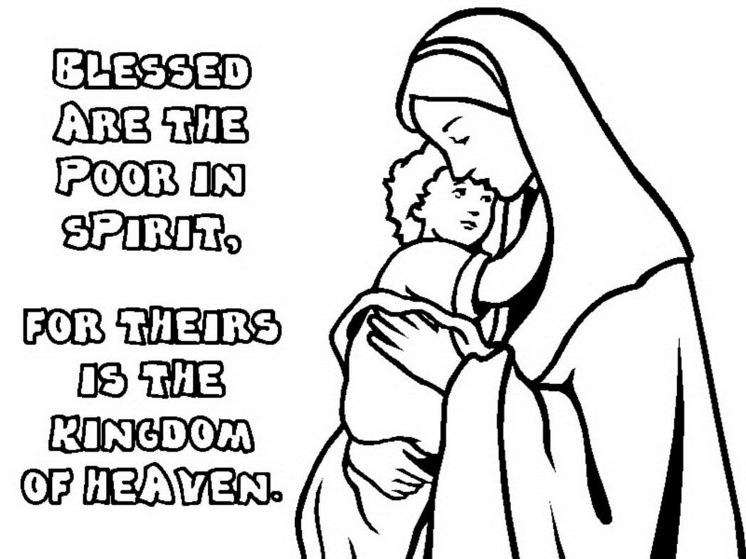 Beatitudes Coloring Pages For Children Beatitudes For Kids