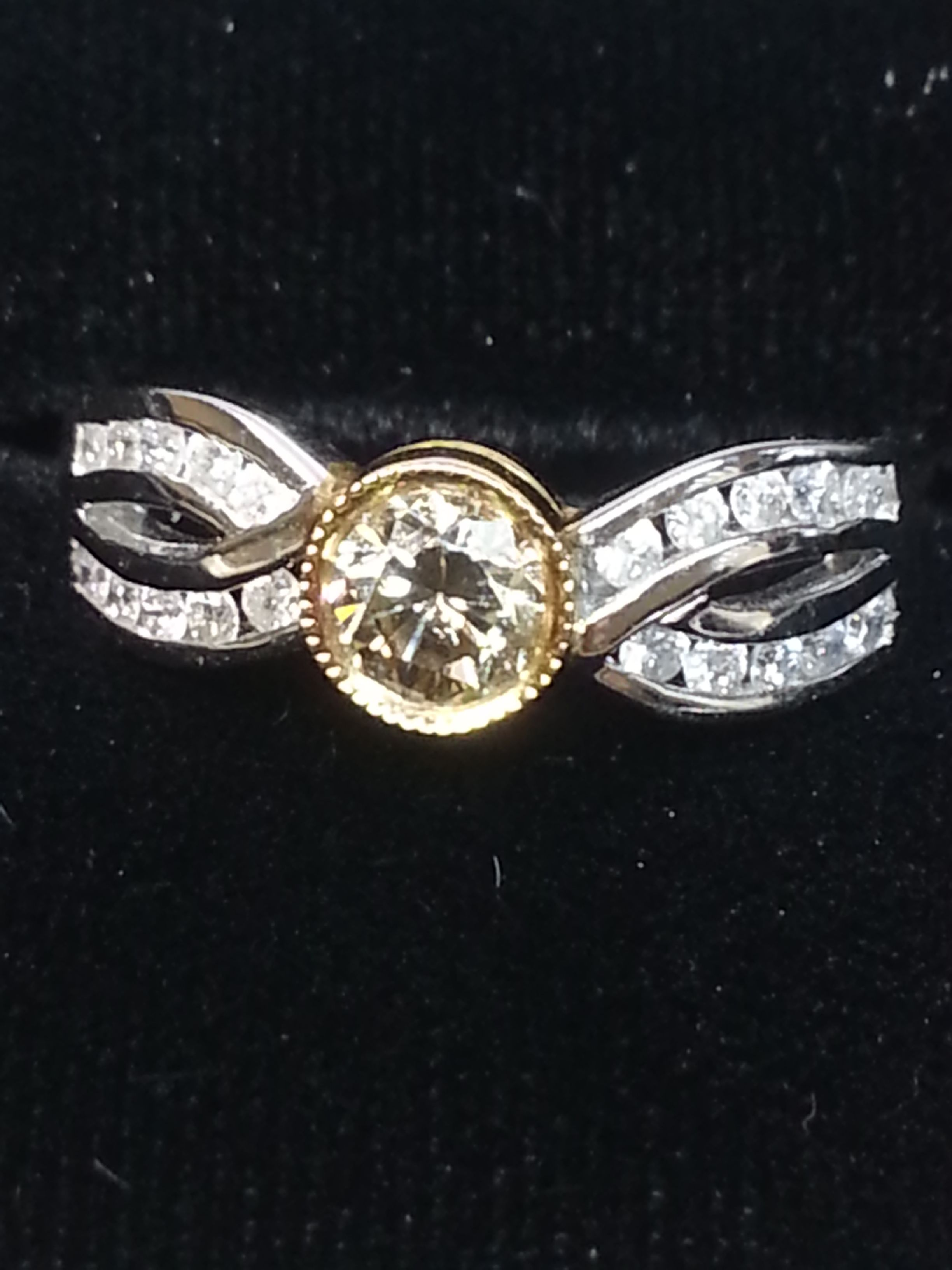 Atlanta Jeweler Yellow White Gold Two Tone Engagement Ringyaway Ok Text  Or Call