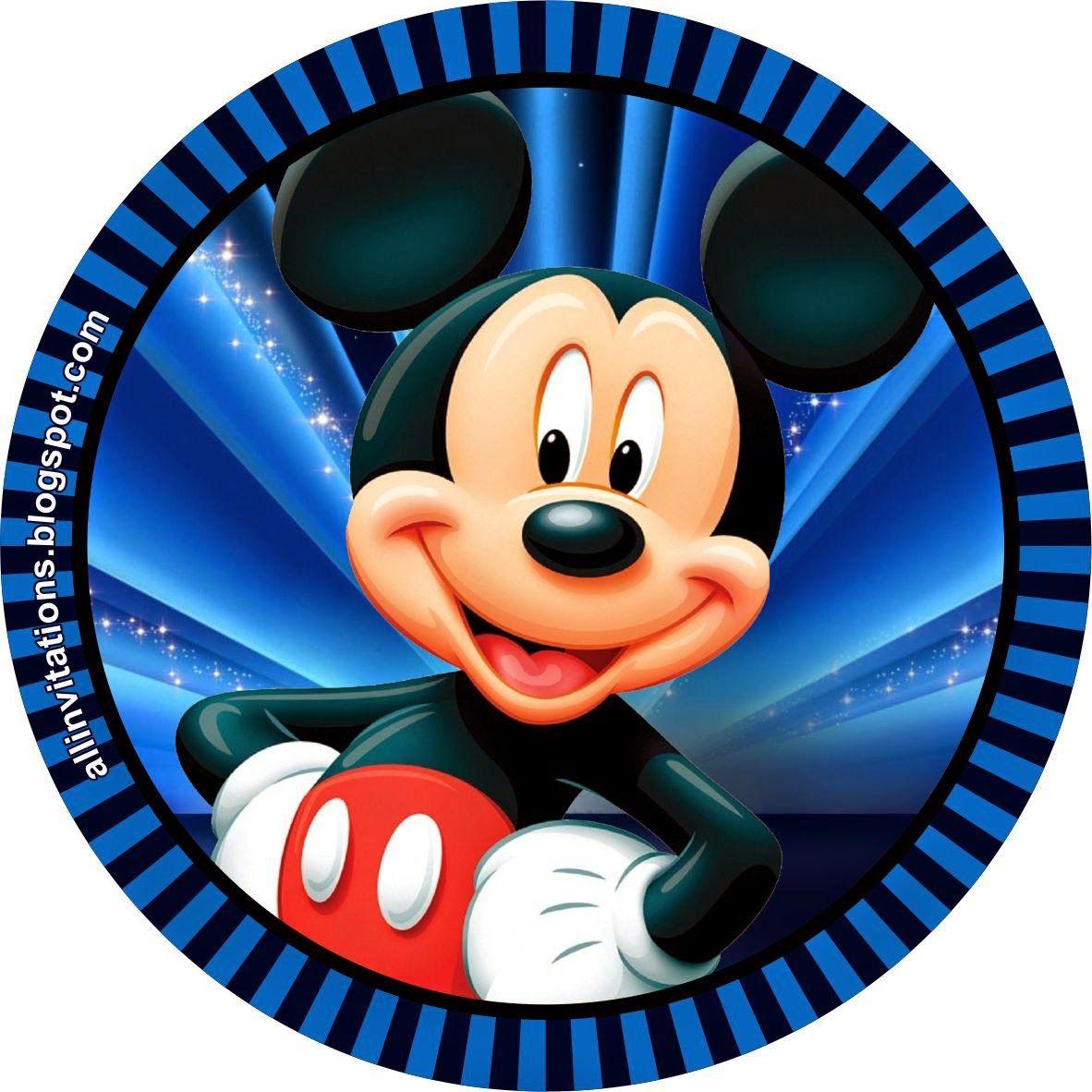 Etiqueta redonda Mickey Mouse | Bebé Mickey | Pinterest | Etiquetas ...