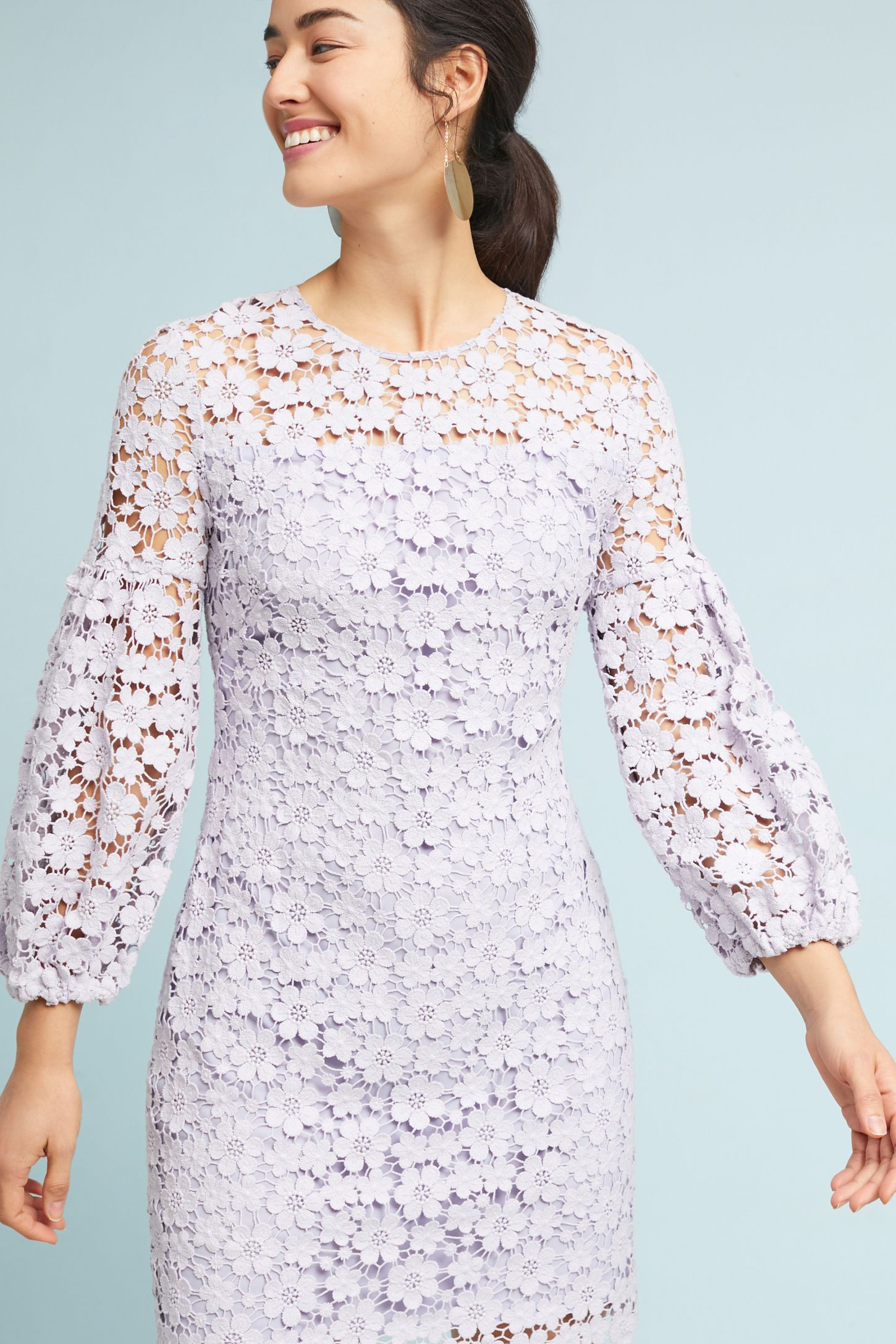 Shoshanna Vina Lace Dress Spring Is In The Air Lace