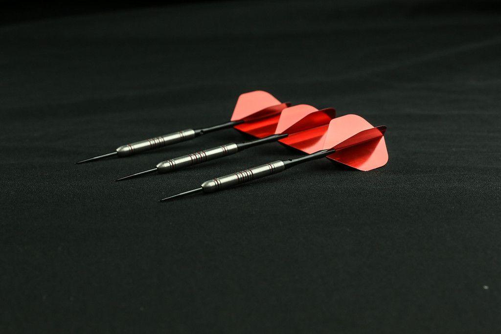 9 Flights Free Shipping Nylon 3 Sets RED Standard Dart Flights