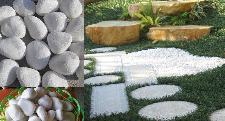 Home Snow White Pebbles Pebble Garden Granite Paving Paving Stones