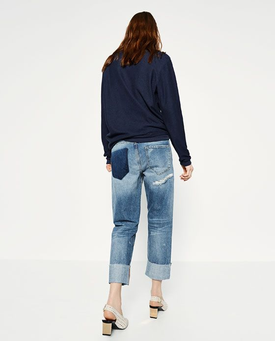 cd570ee3cd Image 3 of BOYFIT SELVEDGE JEANS from Zara | My Style | Jeans ...