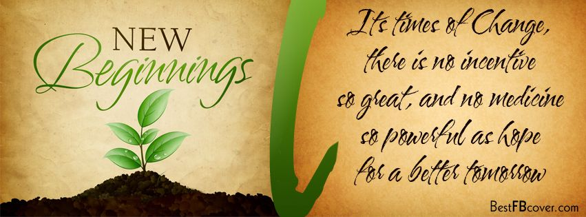 New Beginnings Facebook Timeline Profile Cover New
