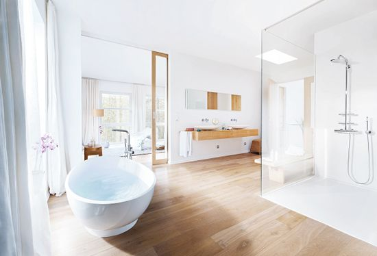 Emejing Houtlook Tegels Badkamer Images - Home Ideas Design ...
