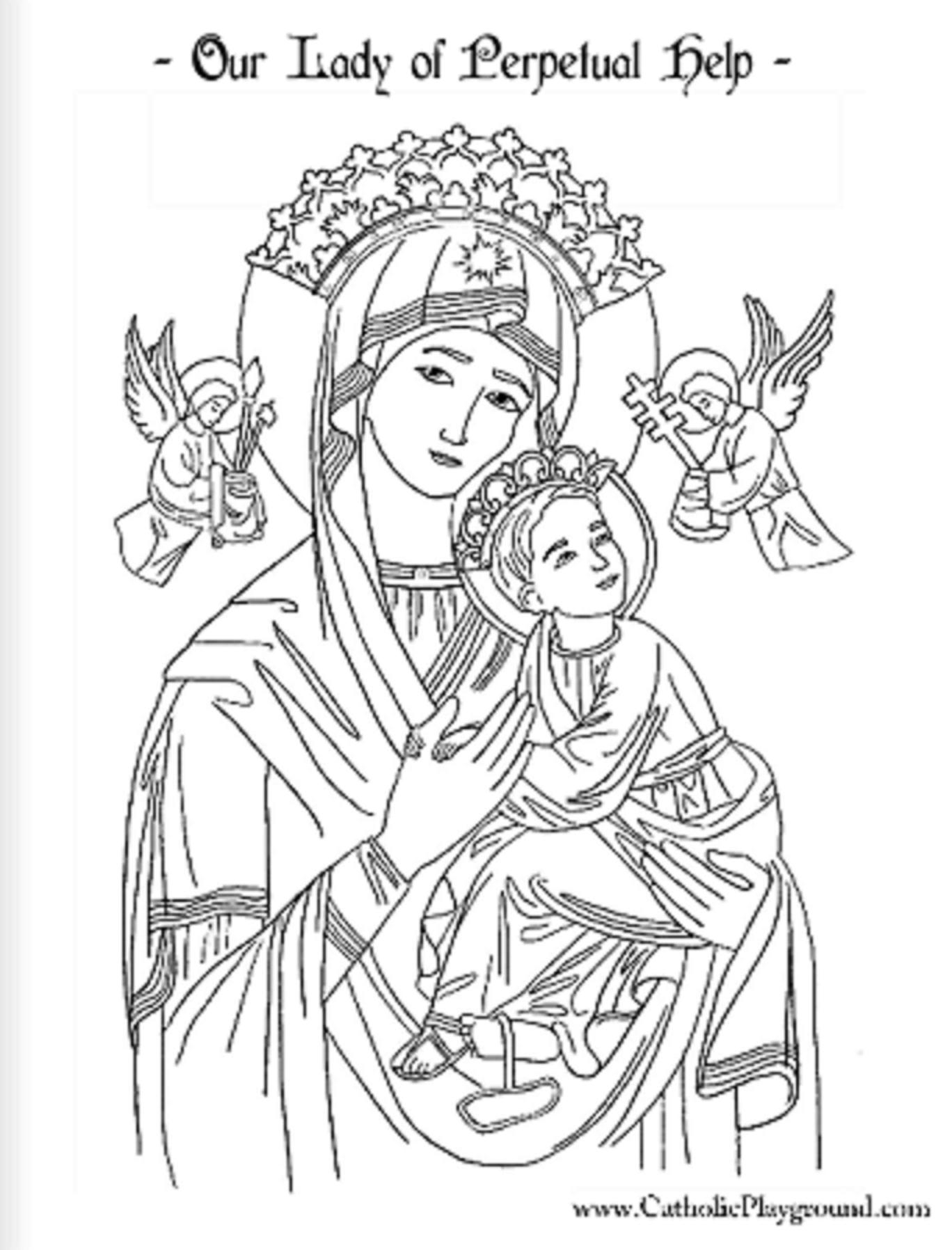 Pin De Romina Fretes Em Perpetuo Socorro Nuestra Senora Desenho Religioso Imagens Catolicas Arte Religiosa