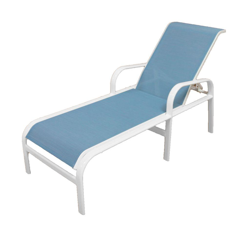 Marco Island Commercial Grade White Dupione Poolside Sling Outdoor Chaise Lounge 3120 W Dp Patio Chaise Lounge Patio Lounge Chairs Aluminum Patio