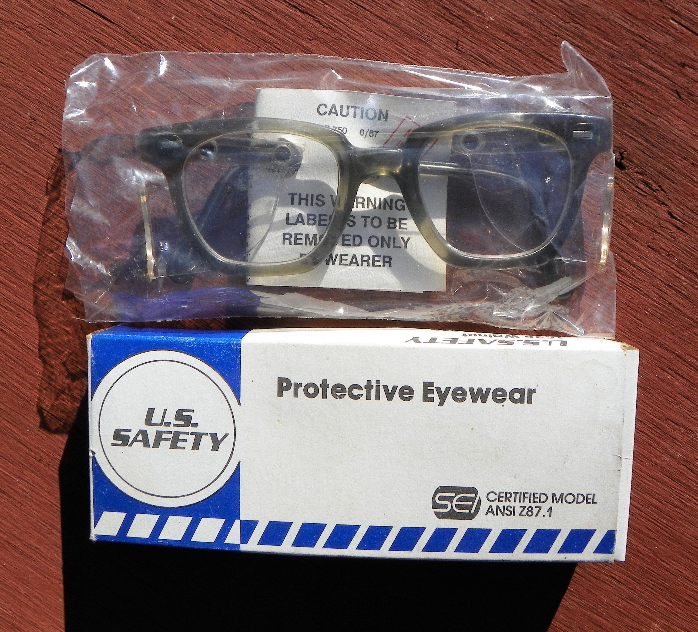 Vintage US Safety Protective Eyewear Safety Glasses Model