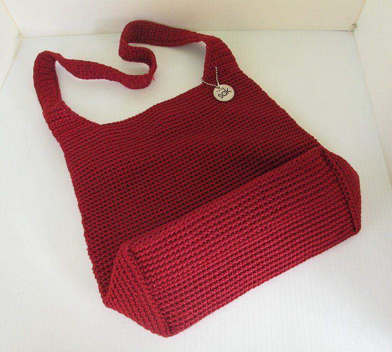 Red Crochet Shoulder Bag