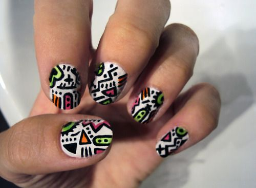 aztec print nails - Google Search